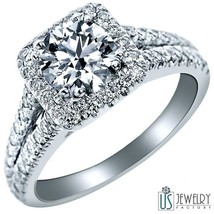 1.88 Carat (1.05) E Si2 New Round Cut Diamond Engagement Ring 14 K White Gold - $3,790.71