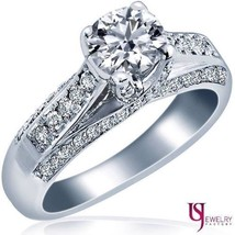 1.09 Carat (0.54) F/G-VS1 Real Round Cut Diamond Engagement Ring Split S... - €2.067,68 EUR