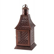 Labyrinth Pewter Candle Lantern - $43.00
