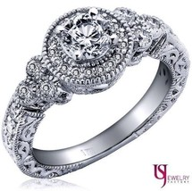 0.91 Ct (0.51) H Si1 Round Cut Natural Diamond Engagement Ring Vintage 14 K Gold - $1,671.83