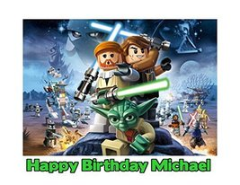 Lego Star Wars Image Photo Cake Topper Sheet Personalized Custom Customi... - $8.50