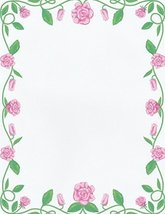 NEW Rose Border Letterhead Stationery Paper 26 Sheets [Office Product] - $9.89