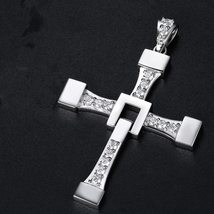 Fast and Furious 8 Cross Necklace Stainless Steel Necklace for Men Dominic Toret image 3