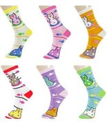ICONOFLASH Women's Printed Bundle Crew Socks, Assorted Colors, Packs of ... - $12.86