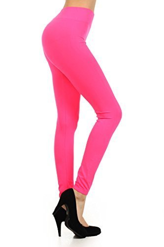 Primary image for ICONOFLASH Women's Casual Solid Color Seamless Legging (Fuchsia, One Size)
