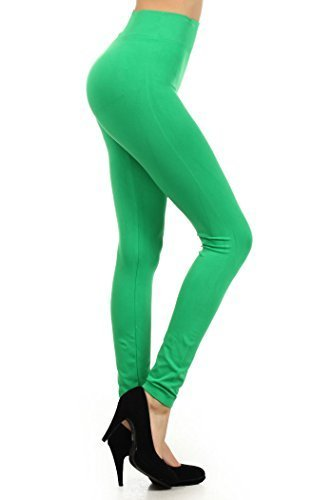 Primary image for Women's Casual Solid Color Seamless Legging (Kelly Green, One Size)