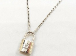Vuitton Q93559 Pandan tiff lock It necklace Cadena Silver Ag925 50cm polish - $566.76