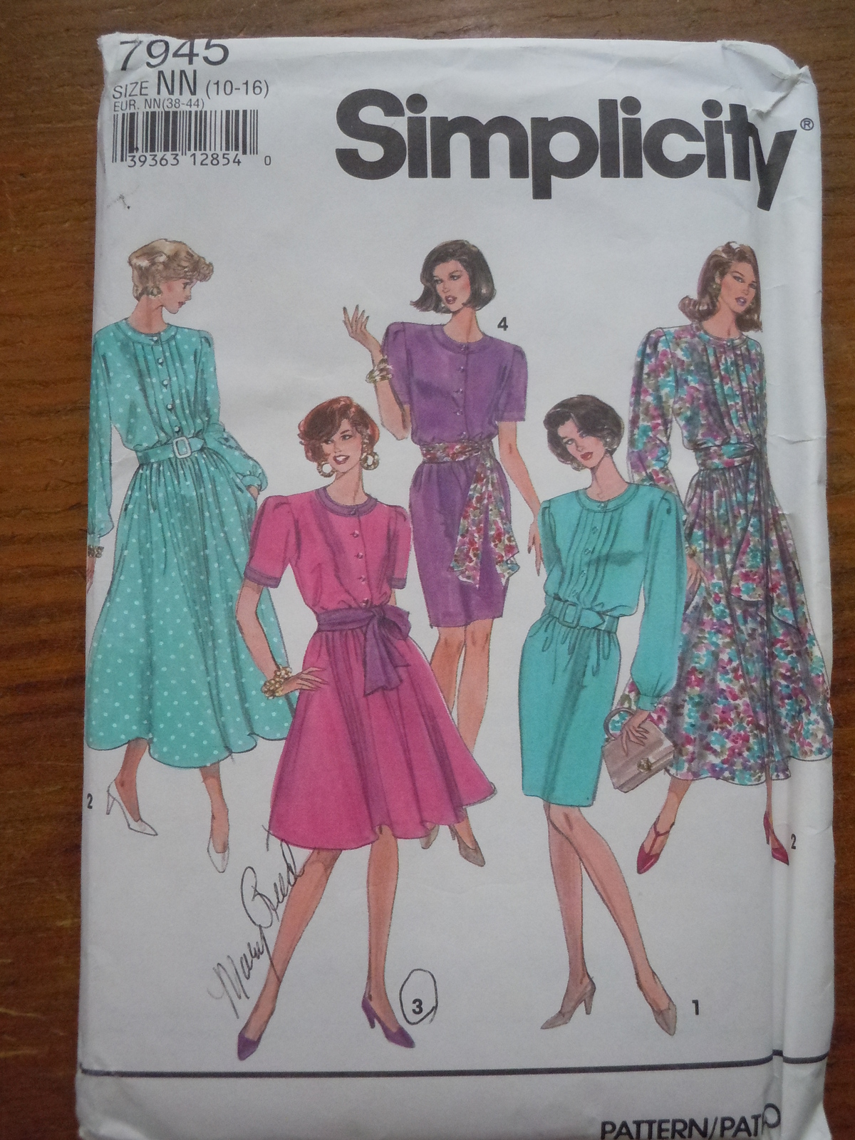 Primary image for Simplicity Misses / Misses Petite Size10-16 Dress With Full or Slim Skirt  # 794