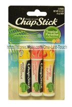 CHAPSTICK* 3p Lip Balm/Gloss TROPICAL PARADISE Collection Set Mango+Aloh... - $6.92