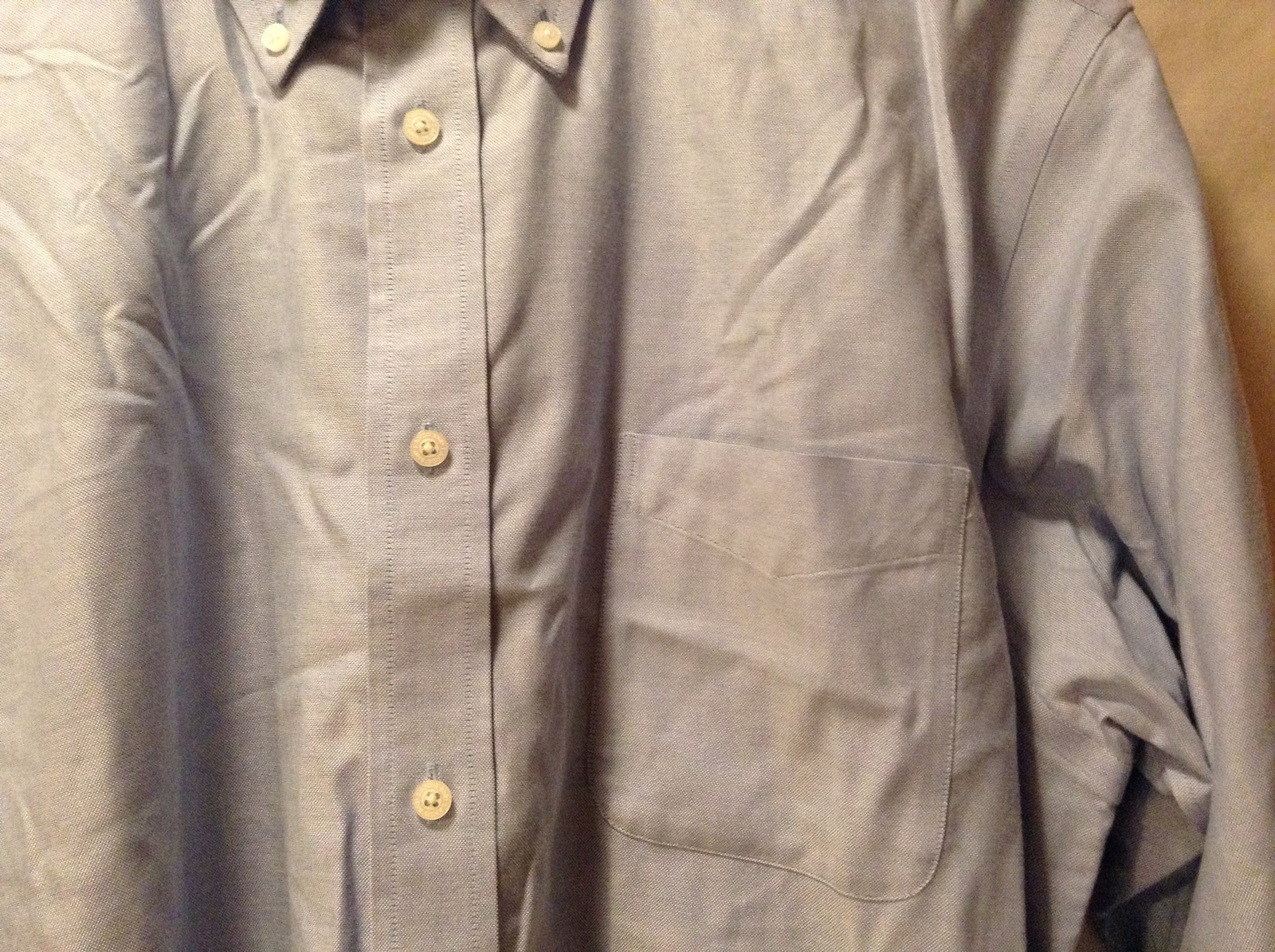 Lands End Mens Light Blue Dress Shirt Size And Similar Items