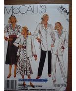 McCall's Misses Size 14 ½  Cardigan Blouse Skirt & Pants #3194 Uncut  - $4.99