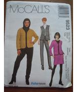 McCall's Misses Size 12 - 14 Jacket Vest Pants & Skirt #9523 Uncut  - $4.99