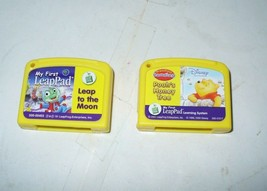 Lot of 2,  My First LeapPad LEAP TO THE MOON & POOH'S HONEY TREE Cartrid... - $5.69