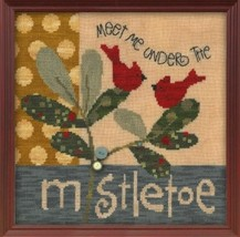 Meet Me Under The Mistletoe ATH1016 button pack + Art To Heart cross stitch JABC - $9.90