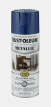 RUST-OLEUM Stops Rust METALLIC Spray Paint 11oz COBALT BLUE Stops Rust 7... - $7.99