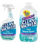 Clean Shower Daily Shower Cleaner - 32 Oz. Spray & 60 Oz. Refill - Scrub... - $29.75