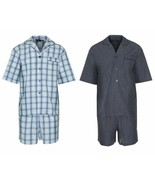 Champion Mens Polycotton Shorts Pyjama Set Pjs Poly Coton Size UK S - 3XL - $20.24