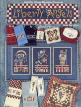 Liberty Angels Banner Bookmarks Towels More Alma Lynne Cross Stitch Pattern - $3.84