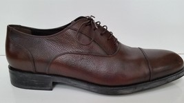 Salvatore Ferragamo Shoes Brown Leather Lace Up Dress Shoes 9 1/2 EE - $205.35 CAD