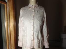 Ann Taylor Light Pink Long Sleeve Button Up Shirt  3 Buttons At Cuffs Size 6