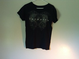 Black Chris Daughtry T Shirt Collar and Lining of Sleeves Cut Off For Punk Look