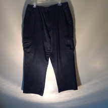 Habands Ice  House Flannel Lined Dark Navy Blue Pants Lots of Pockets Size 42S