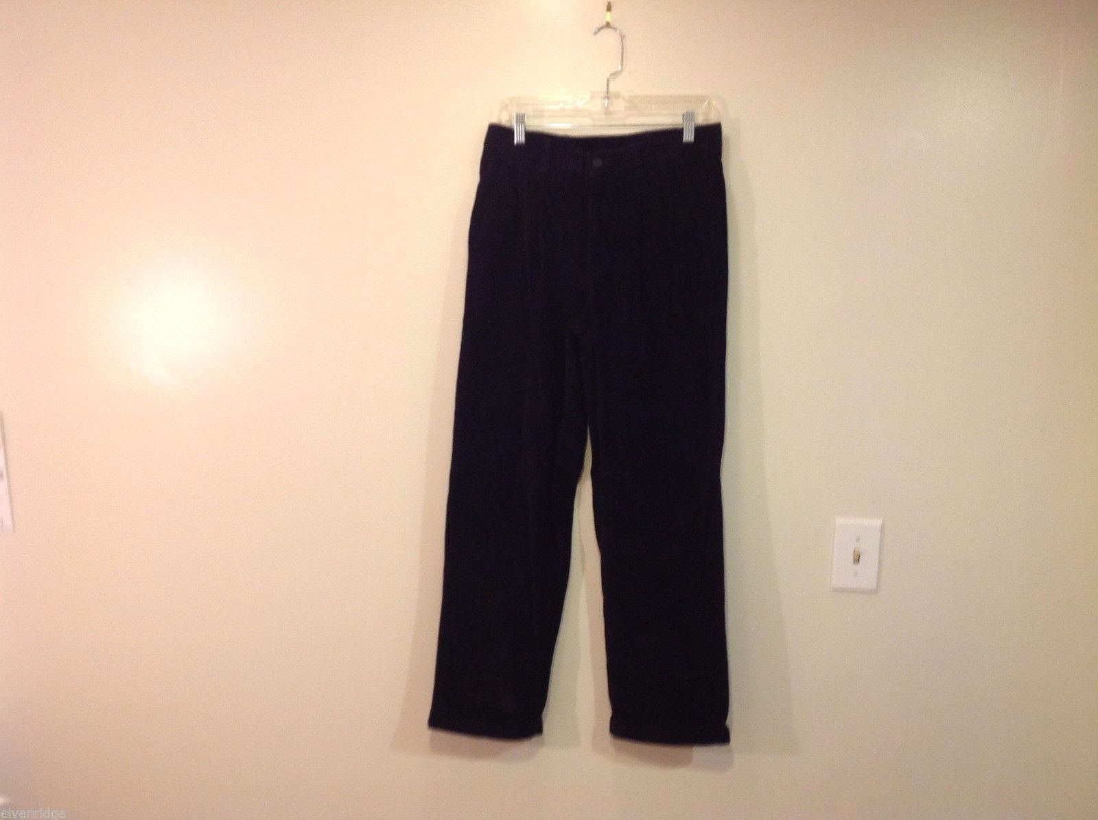 Club Room black corduroy Pants 100% cotton 30 x 41