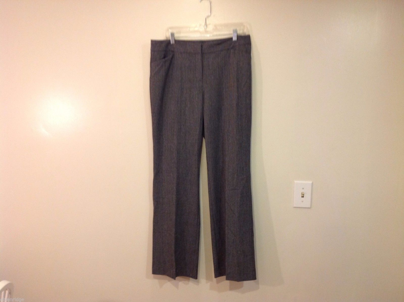 Alfani Size 12 Gray Dress Pants Herringbone pattern