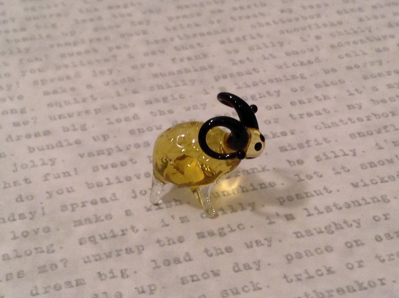 Micro miniature hand blown glass figurine bighorn sheep   USA NIB