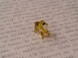 Micro miniature hand blown glass figurine mystery chimera animal  USA NIB