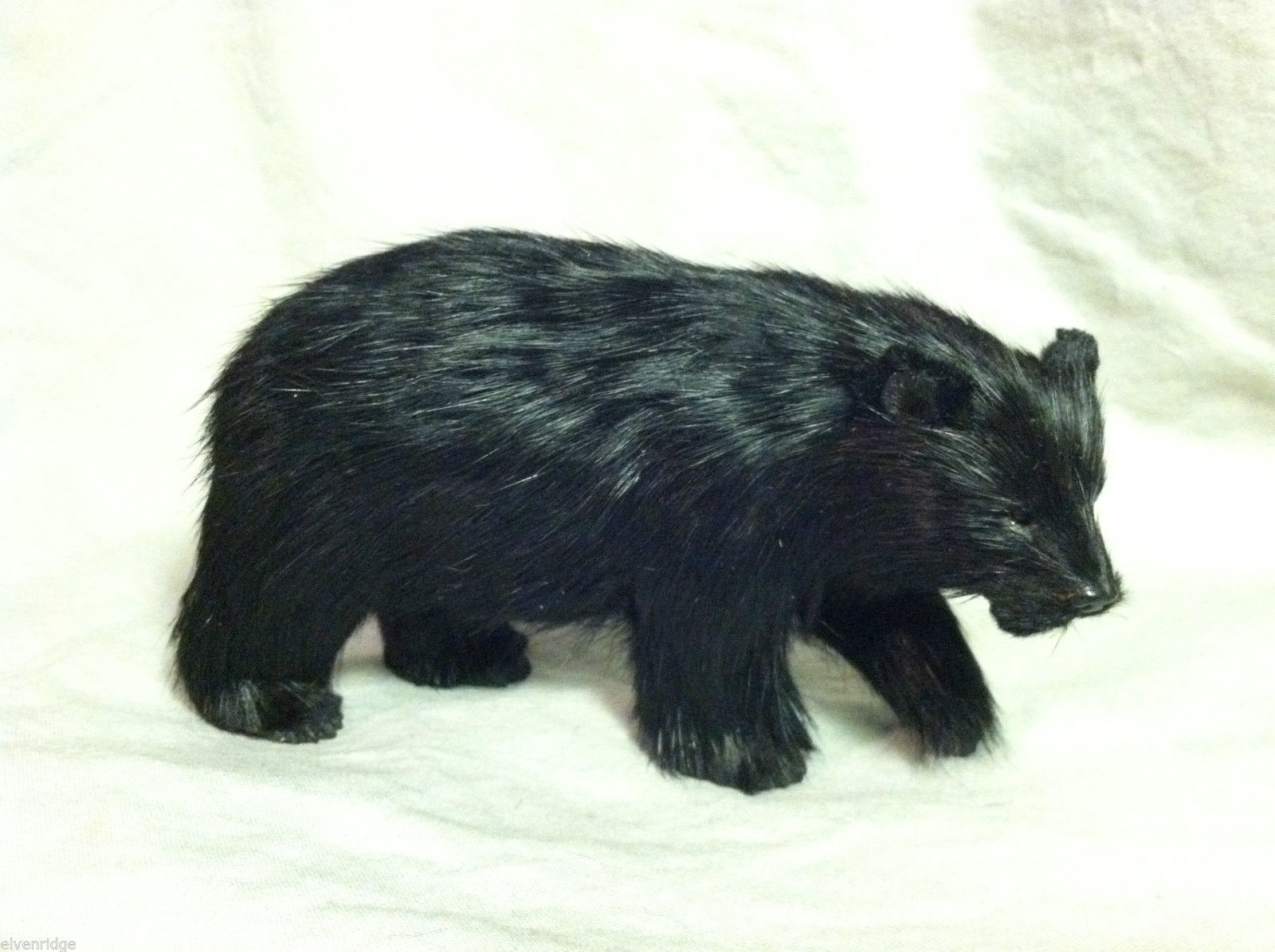 North American Black Bear Animal Figurine - recycled rabbit fur