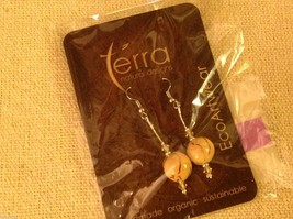 Shade choice LARGE acai seed earrings by Terra help sustain amazon rainforest