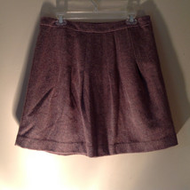 Size 8 Brown Skirt by GAP Side Zipper 100 Percent Wool