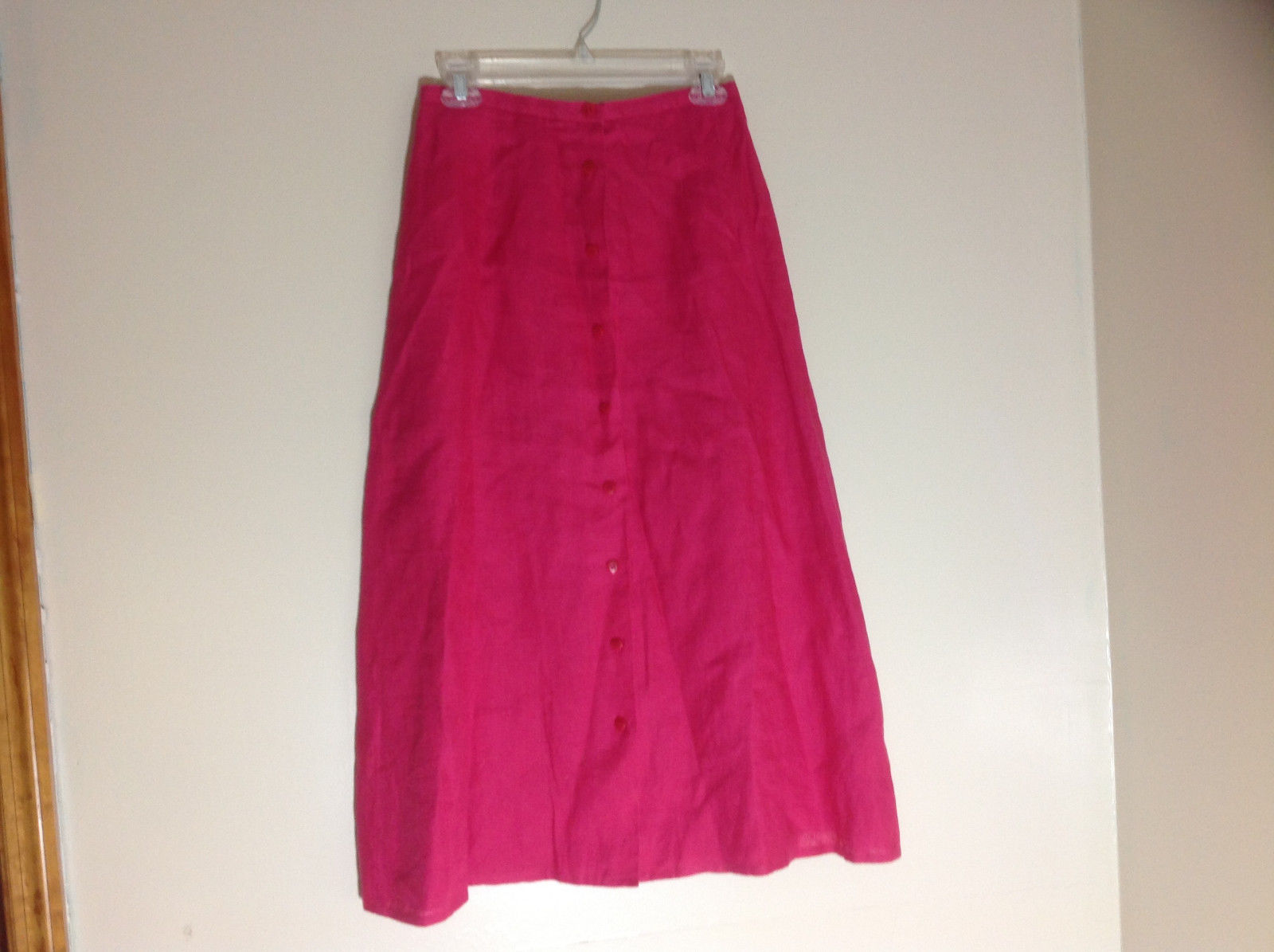 Talbots Pink Button Up Mid Length Skirt Size 6
