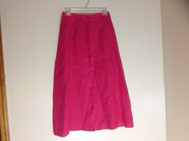 Talbots Pink Button Up Mid Length Skirt Size 6 - $24.74