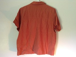 Burnt Orange Short Sleeve Collared Button Up Blouse Christopher and Banks Size M image 4