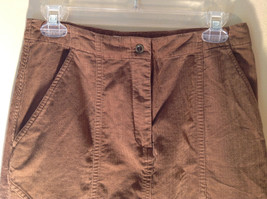 Brown Maxi Skirt by Christopher and Banks Stretch Front Zipper 2 Pockets Size 4 image 2