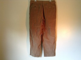 Brown Corduroy L L Bean Casual Pleated Pants Size 36 Front and Back Pockets image 5