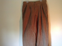 Brown Corduroy L L Bean Casual Pleated Pants Size 36 Front and Back Pockets image 3
