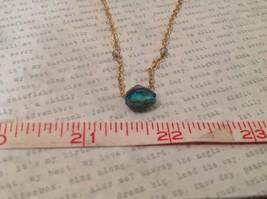 "Caribbean aqua blue Elly Preston Faceted Thai Crystal Pendant Necklace 22"" Long image 3"