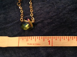 "Caribbean aqua blue Elly Preston Faceted Thai Crystal Pendant Necklace 22"" Long image 11"