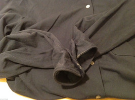 J.Crew Navy Blue almost Black Stretchy fabric Long Sleeve Shirt, no Size tag image 9