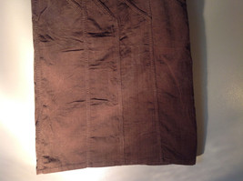 Brown Maxi Skirt by Christopher and Banks Stretch Front Zipper 2 Pockets Size 4 image 4
