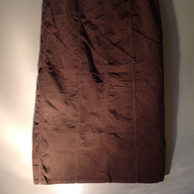 Brown Maxi Skirt by Christopher and Banks Stretch Front Zipper 2 Pockets Size 4 image 7