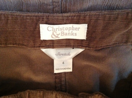 Brown Maxi Skirt by Christopher and Banks Stretch Front Zipper 2 Pockets Size 4 image 8