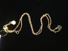 "Caribbean aqua blue Elly Preston Faceted Thai Crystal Pendant Necklace 22"" Long image 6"