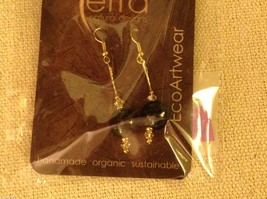 Shade choice LARGE acai seed earrings by Terra help sustain amazon rainforest image 2