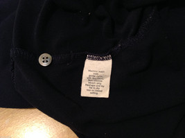 J.Crew Navy Blue almost Black Stretchy fabric Long Sleeve Shirt, no Size tag image 8