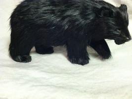 North American Black Bear Animal Figurine - recycled rabbit fur image 3