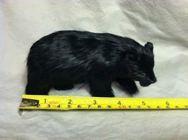 North American Black Bear Animal Figurine - recycled rabbit fur image 9
